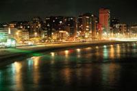 レブロン海岸の夜景