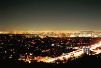 ゲッティーセンターから見たロスアンゼルスの町