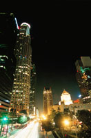 ダウンタウンの高層ビル