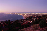 パロスベルデス半島から見たロスアンゼルスの町