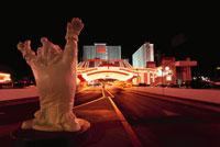 ラスベガスブルーバードの夜景 サーカスサーカス 02350002430| 写真素材・ストックフォト・画像・イラスト素材|アマナイメージズ