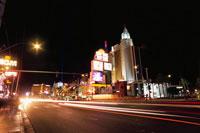 ラスベガスブルーバード(ストリップ)の夜景