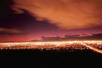 サンライズマウンテンから見たラスベガスの夜景