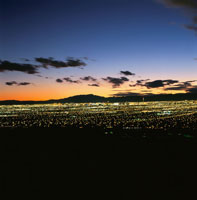 サンライズマウンテンから見たラスベガスの夜景 02350002447| 写真素材・ストックフォト・画像・イラスト素材|アマナイメージズ