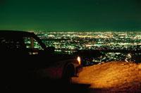 大岩山から望む足利市街と車 02350002496| 写真素材・ストックフォト・画像・イラスト素材|アマナイメージズ