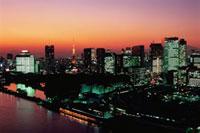 勝どきから東京タワーと富士山遠望