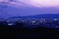 将軍塚 東山山頂公園から望む京都市街の夜景