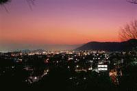 船岡山公園から望む京都市街の夜景