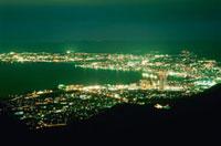比叡山ドライブウェイから眺める琵琶湖の夜景