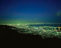 麻耶山掬星台から望む大阪湾方面の夜景