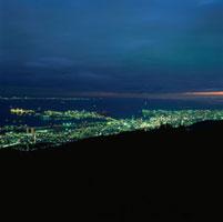 麻耶山掬星台から望むポートアイランドとハーバーランドの夜景