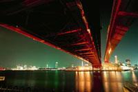 ポートアイランド北公園から望む神戸大橋