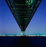 松帆アンカレッジパークから望む明石海峡大橋