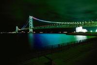舞子公園から望む明石海峡大橋