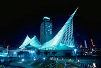 神戸海洋博物館のライトアップ
