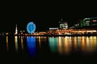 メリケンパークから望むモザイクの夜景