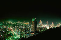 新神戸駅周辺の夜景