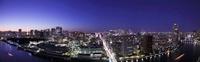 東京タワーと東京スカイツリーと富士山のある夜景