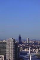 勝どきより東京スカイツリーを望む 02350002733| 写真素材・ストックフォト・画像・イラスト素材|アマナイメージズ