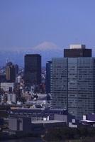 勝どき付近より富士山を望む