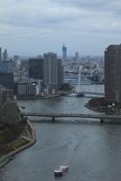 勝どきより隅田川と東京スカイツリーを望む 02350002788| 写真素材・ストックフォト・画像・イラスト素材|アマナイメージズ