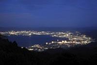 比叡山ドライブウェイから望む大津市街と琵琶湖の夜景