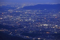 比叡山ドライブウェイから望む京都市街の夜景