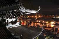 天寧寺・海雲塔と尾道大橋の夜景