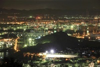 鷲羽山スカイラインからの望む水島コンビナートの夜景