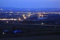 戸外炉峠駐車公園から眺める深川市街の夜景