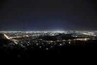 嵐山公園から眺める旭川市街の夜景