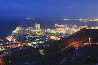 稚内公園から眺める宗谷湾と稚内市街の夜景