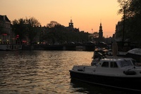 夕暮れのアムステル川