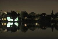 ザーンセ・スカンスの水辺の夜景