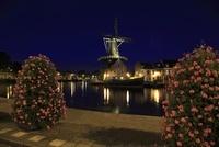 ハーレムの風車の夜景 02350003095| 写真素材・ストックフォト・画像・イラスト素材|アマナイメージズ