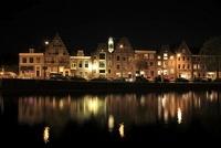 スパールネ川とハーレムの夜景 02350003096| 写真素材・ストックフォト・画像・イラスト素材|アマナイメージズ