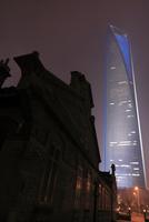 陸家嘴開発陳列館と浦東の高層ビルの夜景