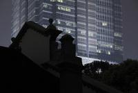 浦東の高層ビルの夜景