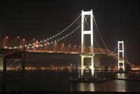 白鳥大橋展望台から望む白鳥大橋の夜景