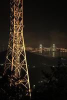 測量山から望む白鳥大橋の夜景