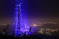 測量山から望む室蘭の夜景