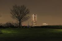 唐沢公園から眺めるみなとみらいの夜景 02350003354| 写真素材・ストックフォト・画像・イラスト素材|アマナイメージズ