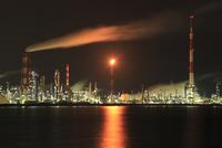 大分市青崎付近から眺める工場の夜景