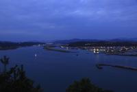 四万十川河口の夕景