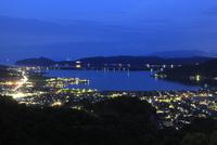 大内峠一字観公園から眺める天橋立と与謝野町の夜景