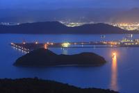 太華山から望む徳山湾と周南市工場地帯の夜景