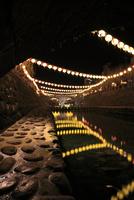 長崎ランタンフェスティバルの提灯と眼鏡橋