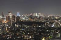 五反田付近から望む新宿方面の夜景