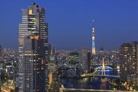勝どき付近から望む隅田川と東京の夜景