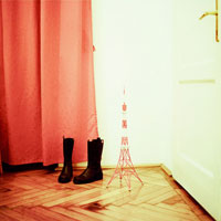 ブーツと東京タワーのミニチュア